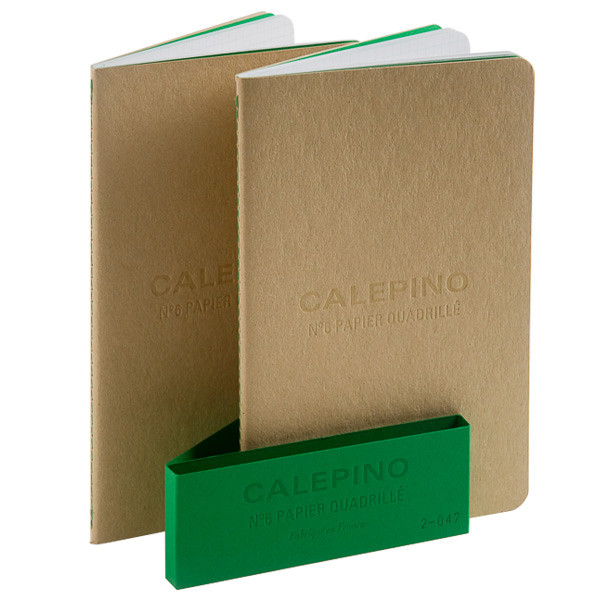 Calepino No.6 Large Notebook Graph Paper Set of 2