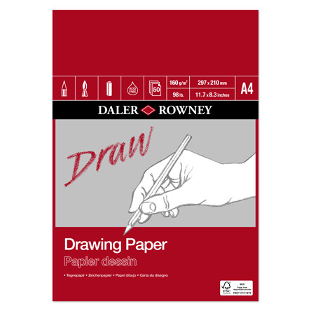 Daler-Rowney Drawing Medium Grain Pad A4
