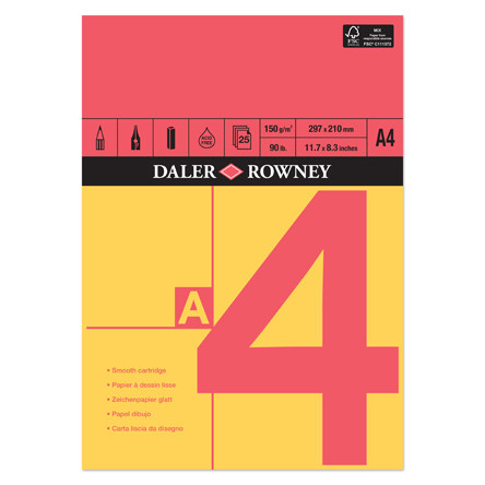 Daler-Rowney Red & Yellow Pad A4