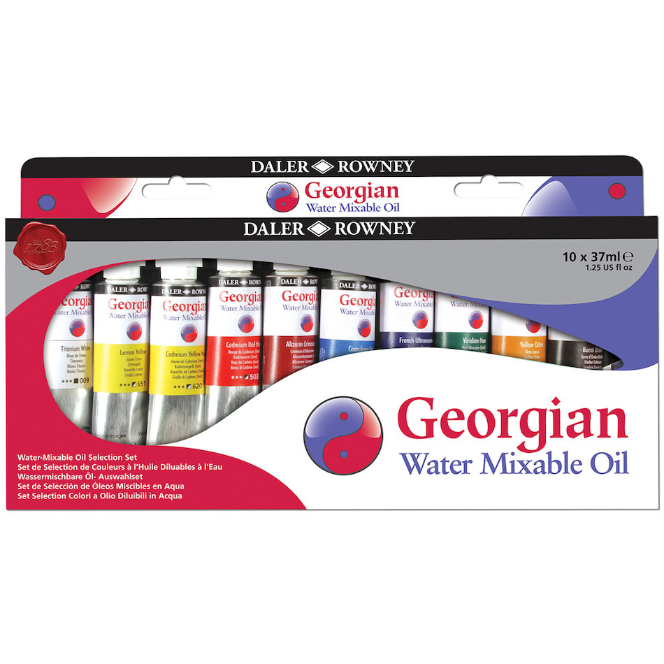 Daler-Rowney Georgian Water Mixable Oil Paint Selection Set of 10