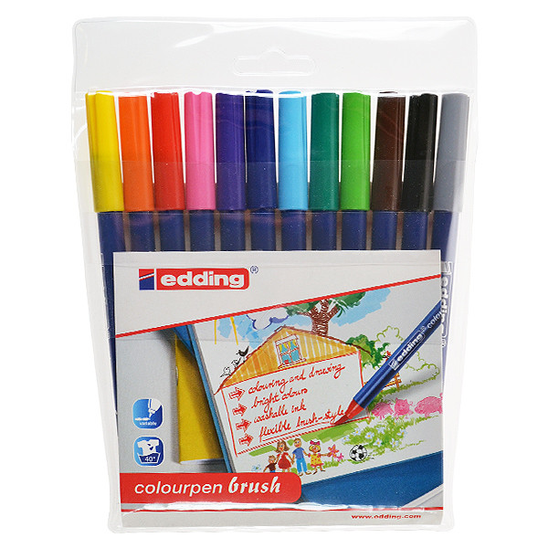 edding Colourpen Brush Wallet of 12