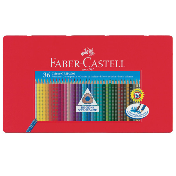 Faber-Castell Colour Grip Pencils Tin of 36