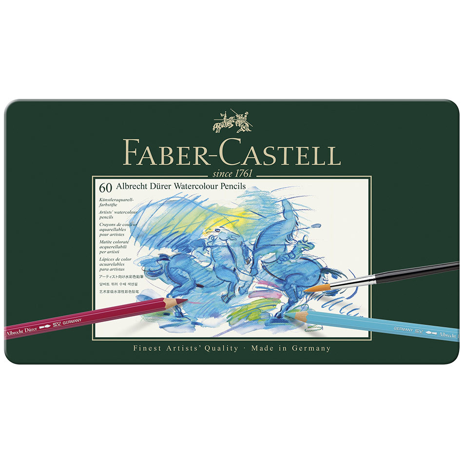 Faber-Castell Albrecht Durer Artists Watercolour Pencil Tin of 60