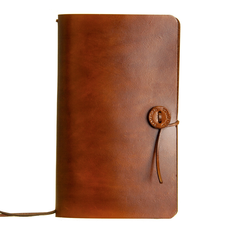 Stamford Notebook Company Medium Traveller's Journal The Classic Range Mid Brown