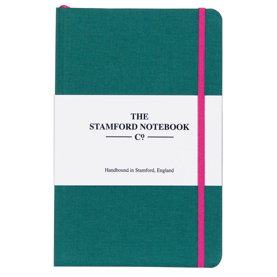 Stamford Notebook Company The Limited Edition Woven Cloth Notebook Quarto Medium Ocean Green