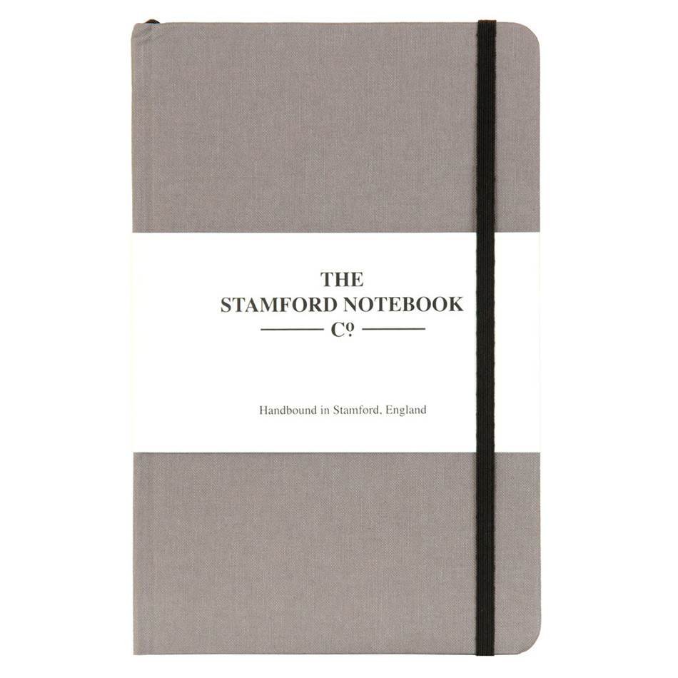 Stamford Notebook Company The Limited Edition Woven Cloth Notebook Quarto Medium Taupe