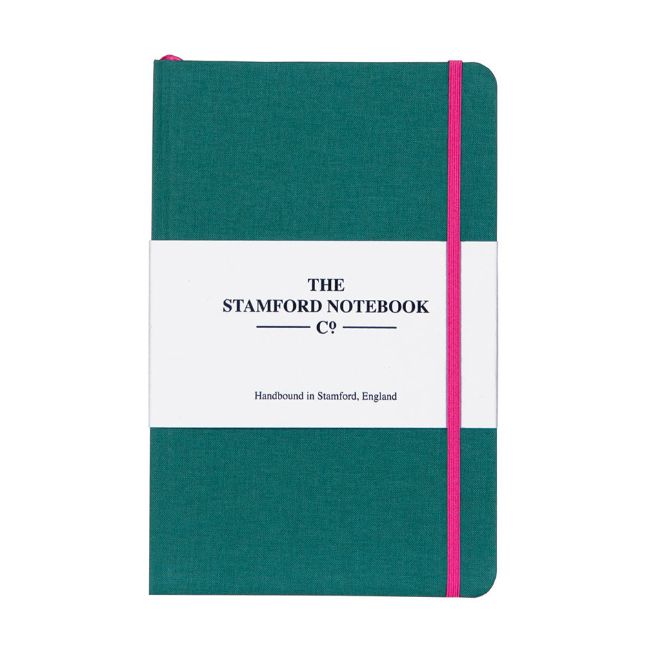 Stamford Notebook Company The Limited Edition Woven Cloth Notebook Octavo Pocket Ocean Green