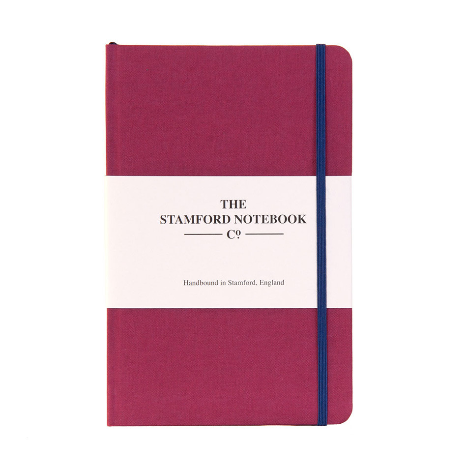 Stamford Notebook Company The Limited Edition Woven Cloth Notebook Octavo Pocket Raspberry