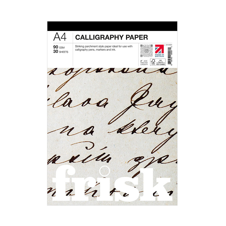 Frisk Calligraphy Paper Pad A4
