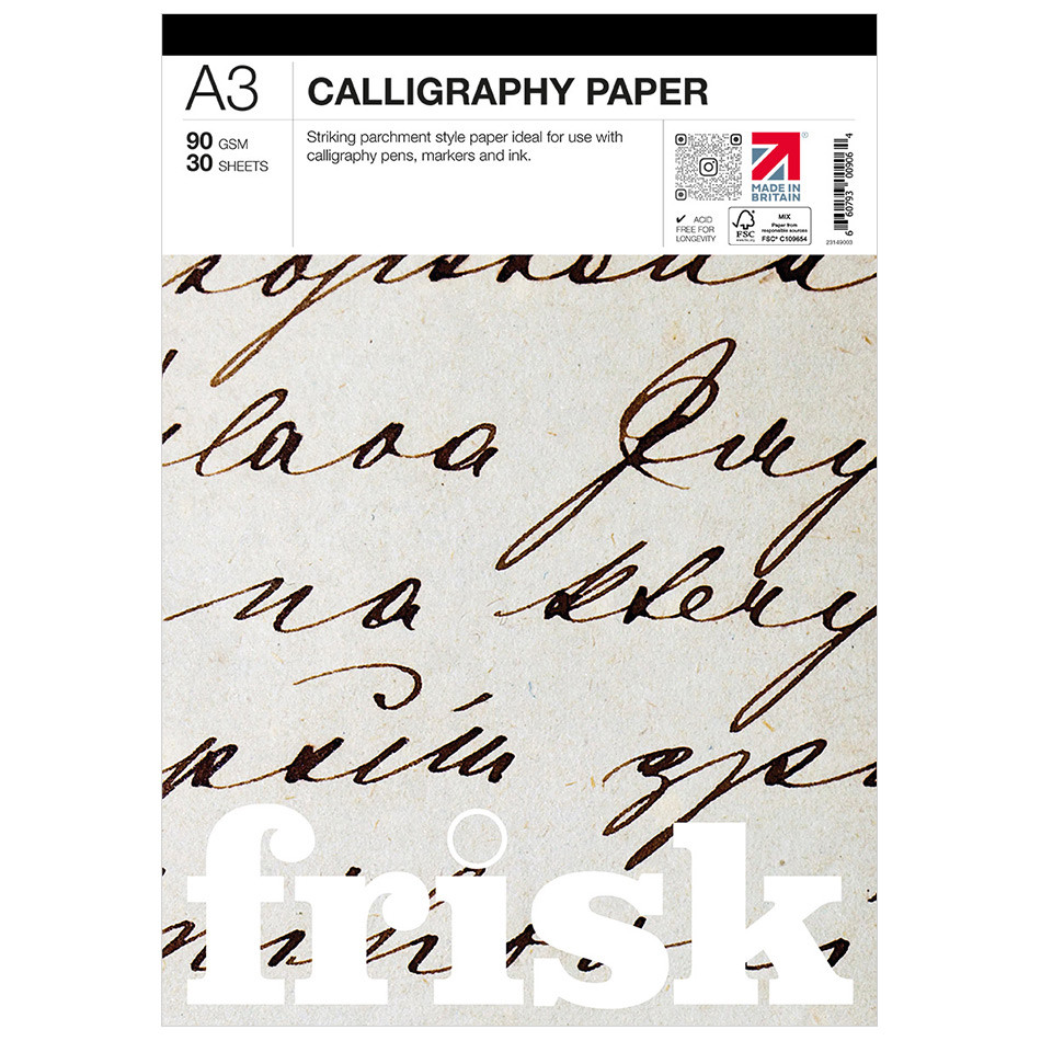 Frisk Calligraphy Paper Pad A3
