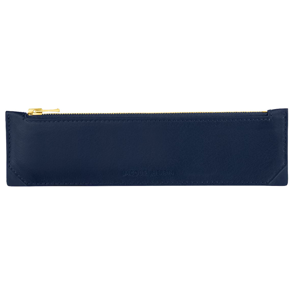 Jacques Herbin Pencil Case Small Blue