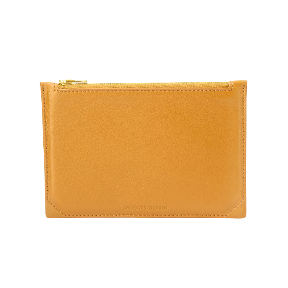 Jacques Herbin Leather Case Small Amber