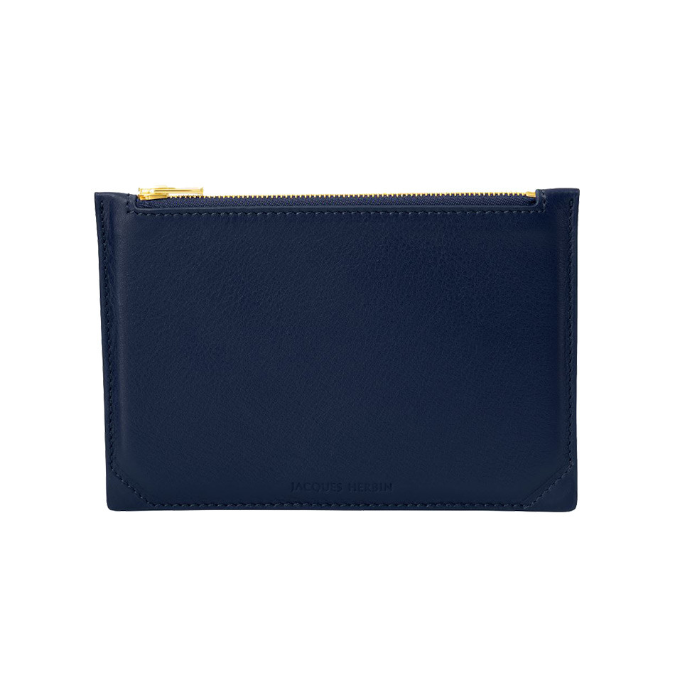 Jacques Herbin Leather Case Small Blue