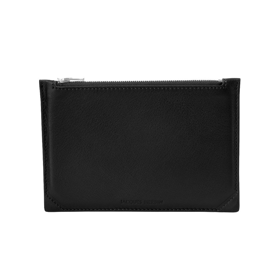 Jacques Herbin Leather Case Small Black