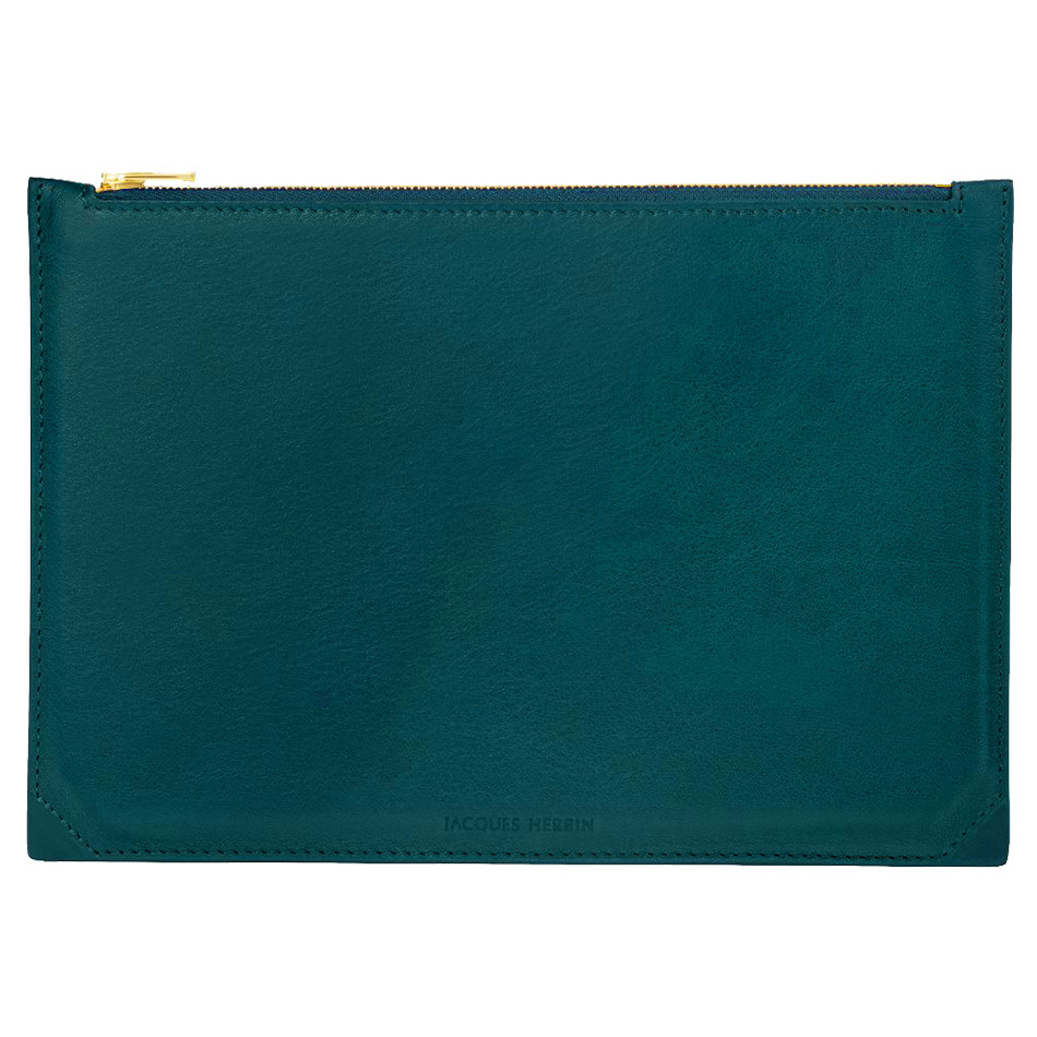 Jacques Herbin Leather Case Large Emerald