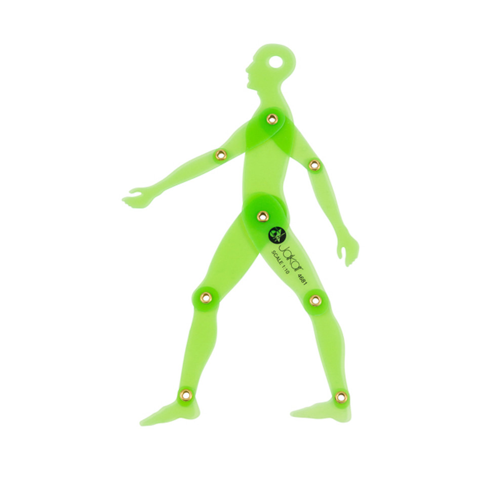 Jakar Male Human Silhouette Movable Template