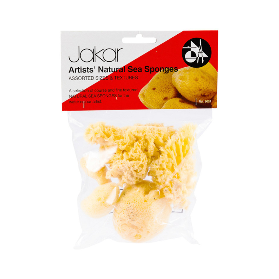 Jakar Natural Sea Sponge Assorted Set of 6