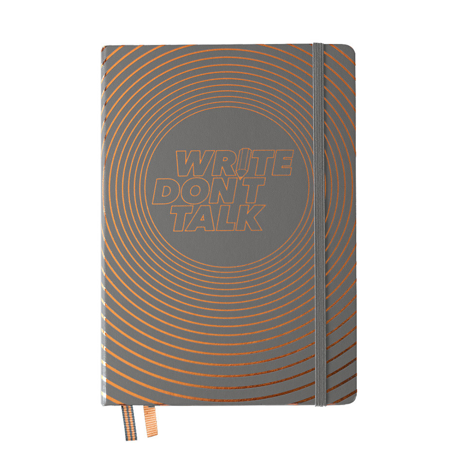 Leuchtturm1917 Hardcover Notebook Write Don't Talk Anthracite Limited Edition