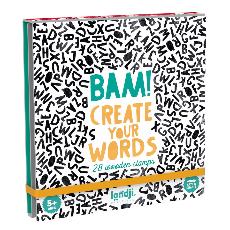 Londji Bam Create Your Words Wooden Stamp Set