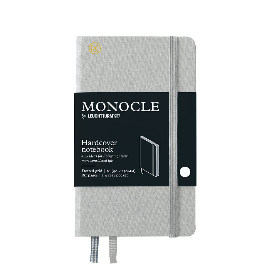 Monocle by Leuchtturm1917 Hardcover Notebook A6 Light Grey