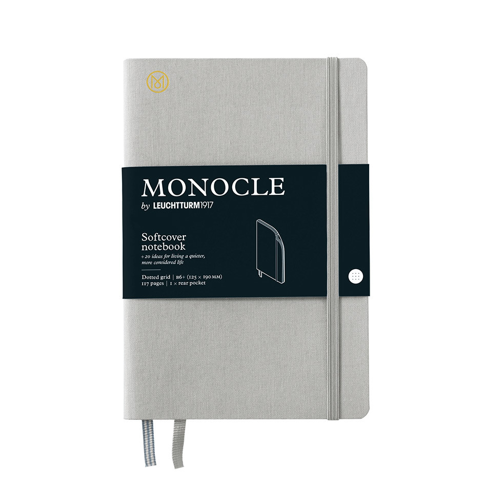 Monocle by Leuchtturm1917 Softcover Notebook B6+ Light Grey