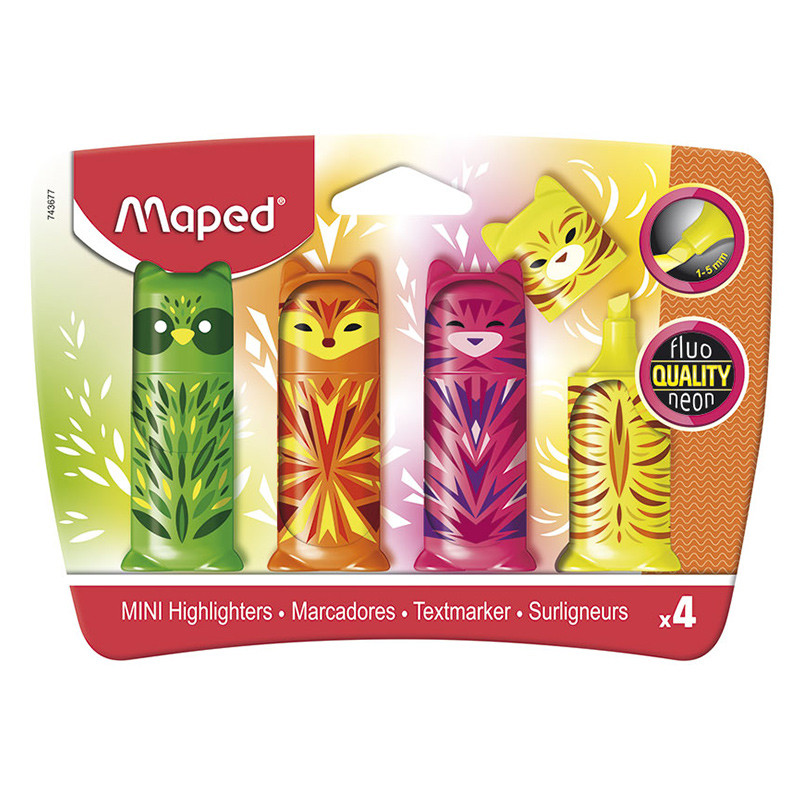 Maped Mini Friends Highlighter Set of 4
