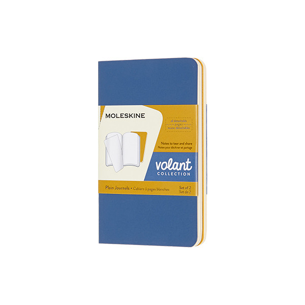 Moleskine Volant Journal Extra Small Set of 2 Forget-Me-Not/Amber Yellow