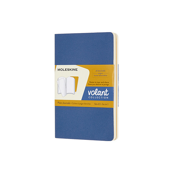 Moleskine Volant Journal Pocket Set of 2 Forget-Me-Not/Amber Yellow
