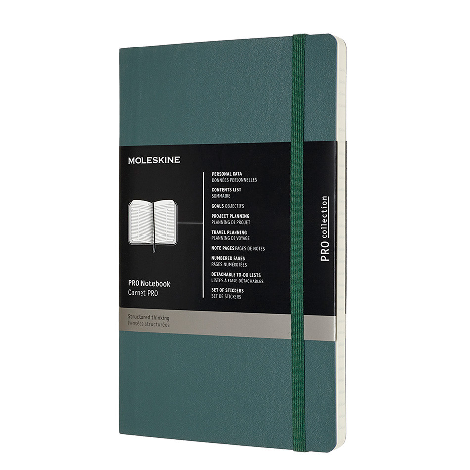 Moleskine Pro Notebook Soft Cover Large 135x210 Forest Green