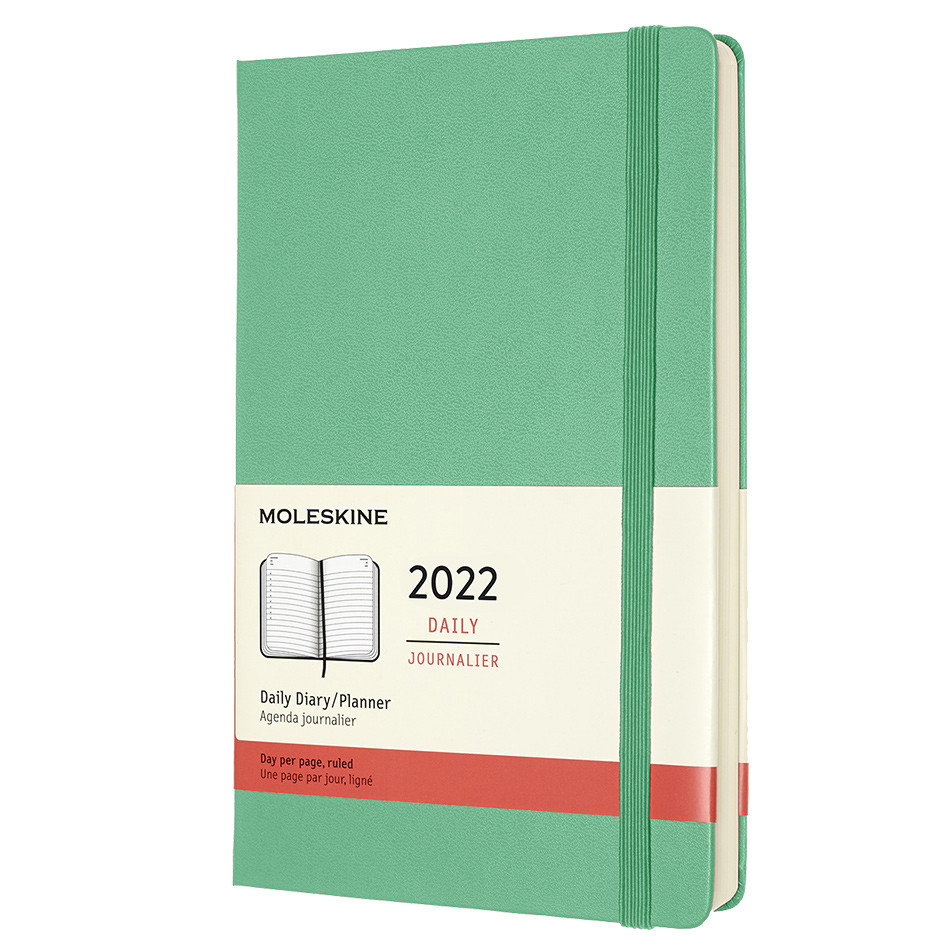 Moleskine Hardcover Large Daily Diary 2022 Ice Green