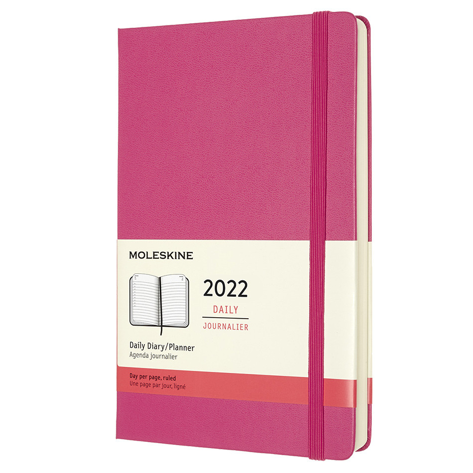Moleskine Hardcover Large Daily Diary 2022 Bougainvillea Pink
