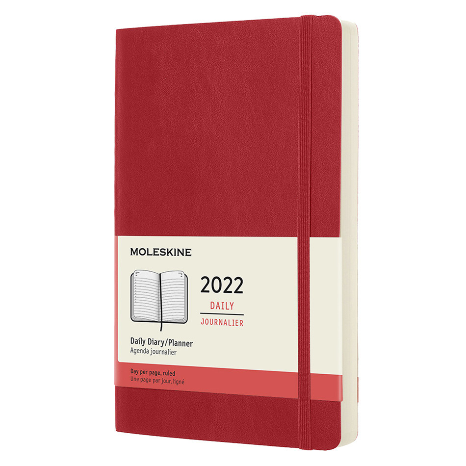 Moleskine Softcover Large Daily Diary 2022 Scarlet Red