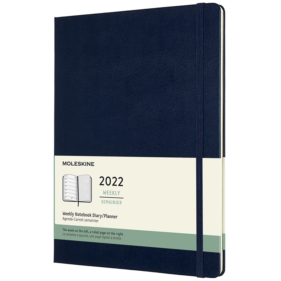 Moleskine Hardcover Extra Large Weekly Diary 2022 Sapphire Blue