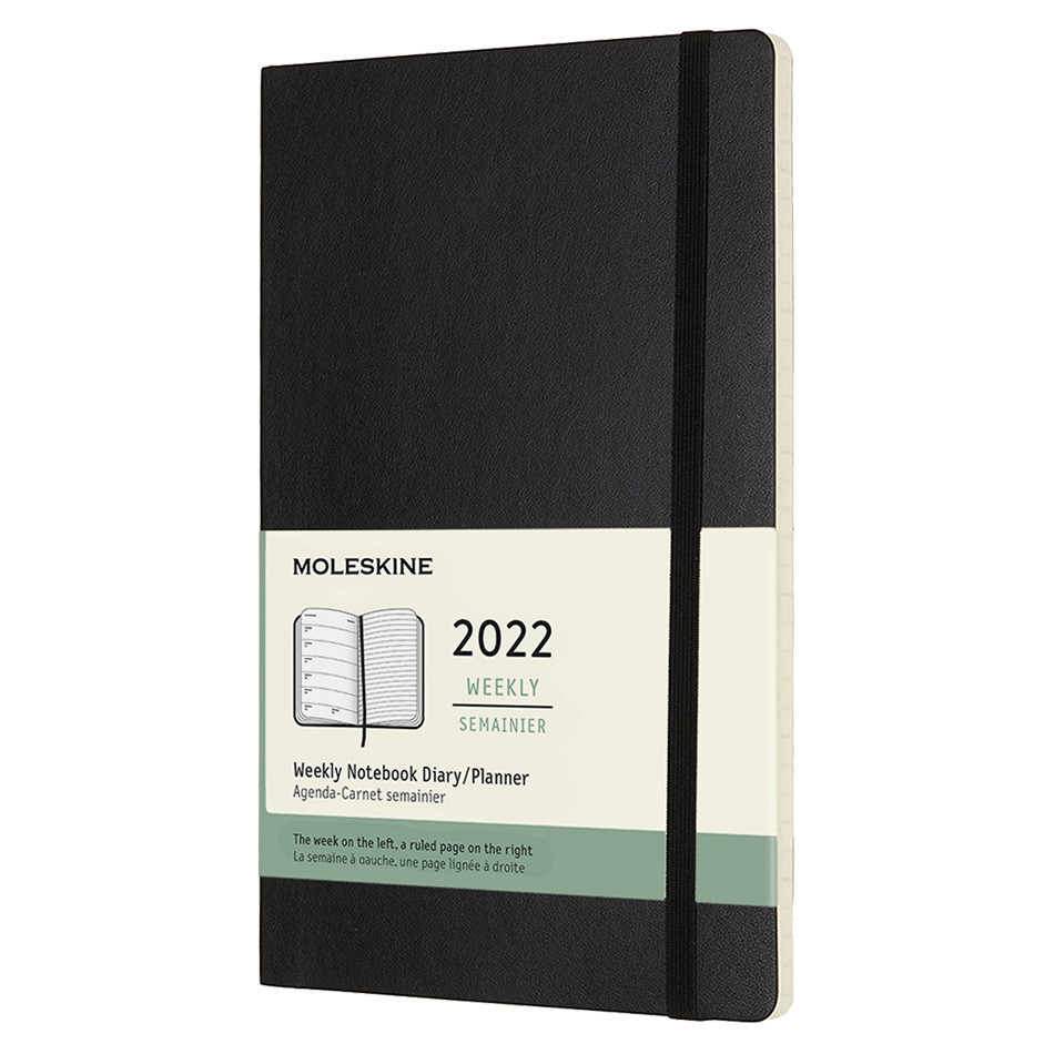 Moleskine Softcover Large Weekly Diary 2022 Black