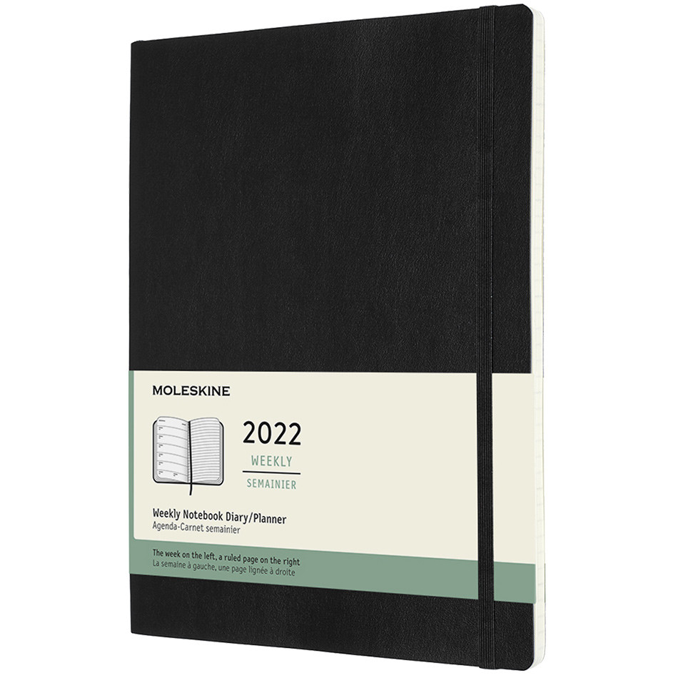 Moleskine Softcover Extra Large Weekly Diary 2022 Black