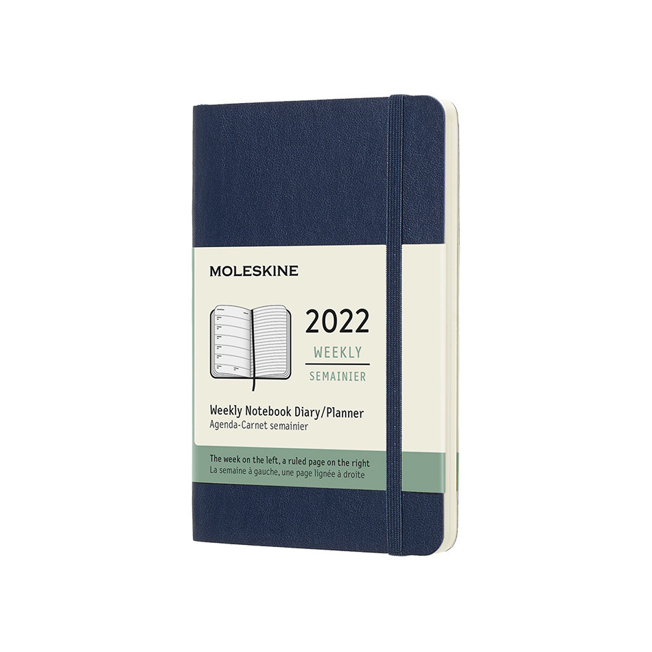 Moleskine Softcover Pocket Weekly Diary 2022 Sapphire Blue