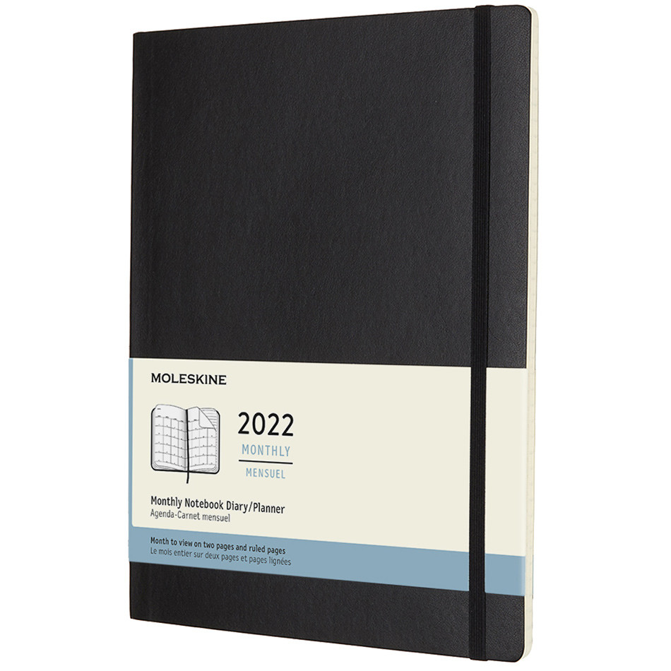 Moleskine Softcover Extra Large Monthly Diary 2022 Black
