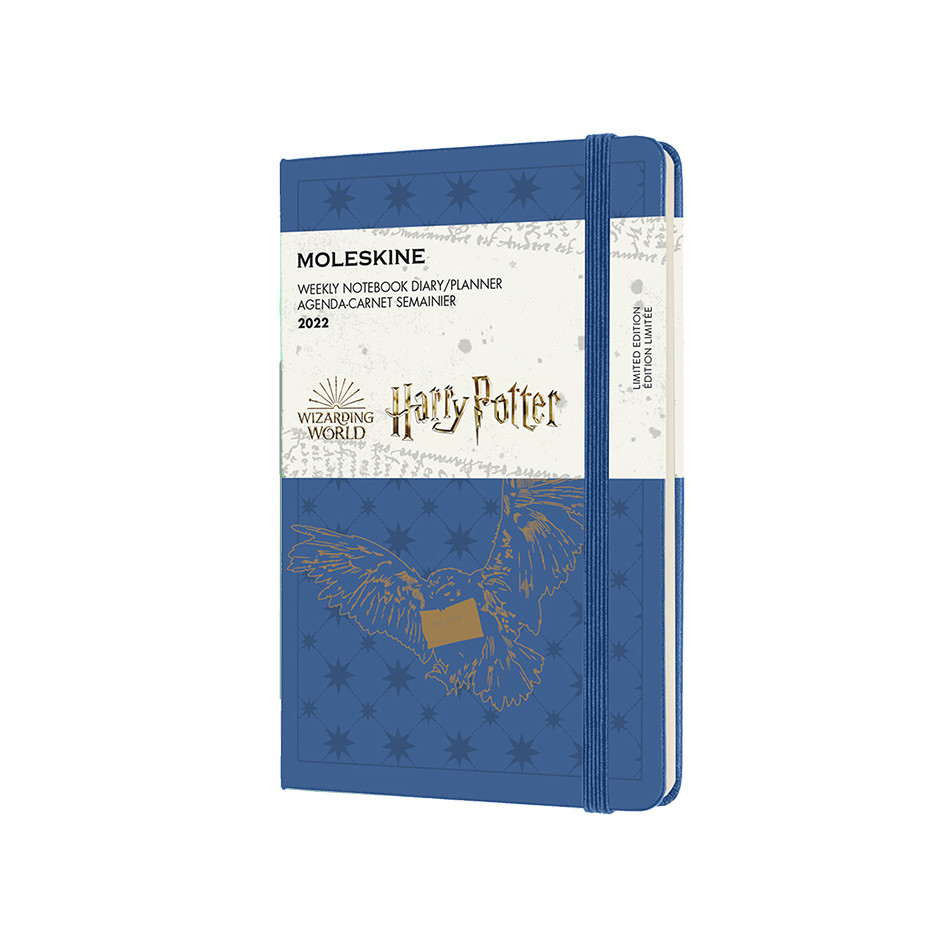 Moleskine Harry Potter Pocket Weekly Diary 2022 Limited Edition Antwerp Blue