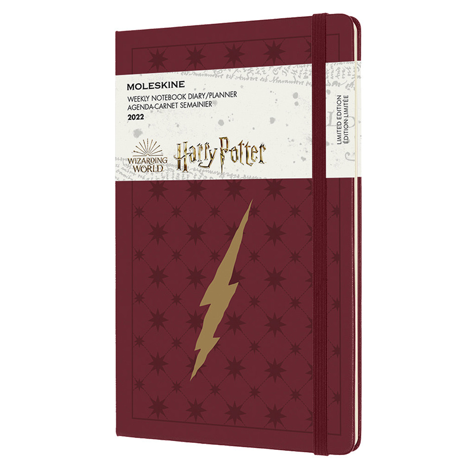 Moleskine Harry Potter Large Weekly Diary 2022 Limited Edition Bordeaux Red