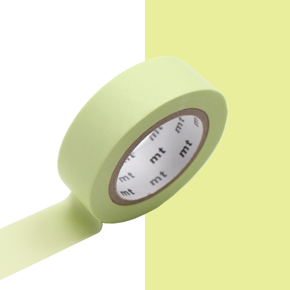 mt Washi Masking Tape - 15mm x 10m - Pastel Lime