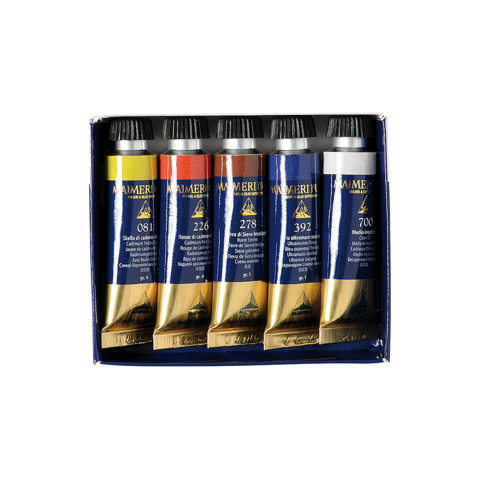 Maimeri Puro Try Out Oil Paint 15ml Set of 5