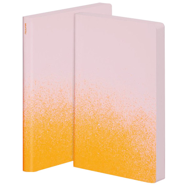 Nuuna Colour Clash L Light Smooth Bonded Leather Cover Notebook Orange Dust
