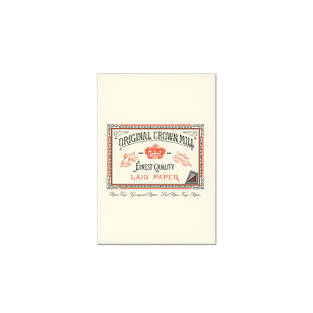 Original Crown Mill Classic Laid Paper Writing Pad A5