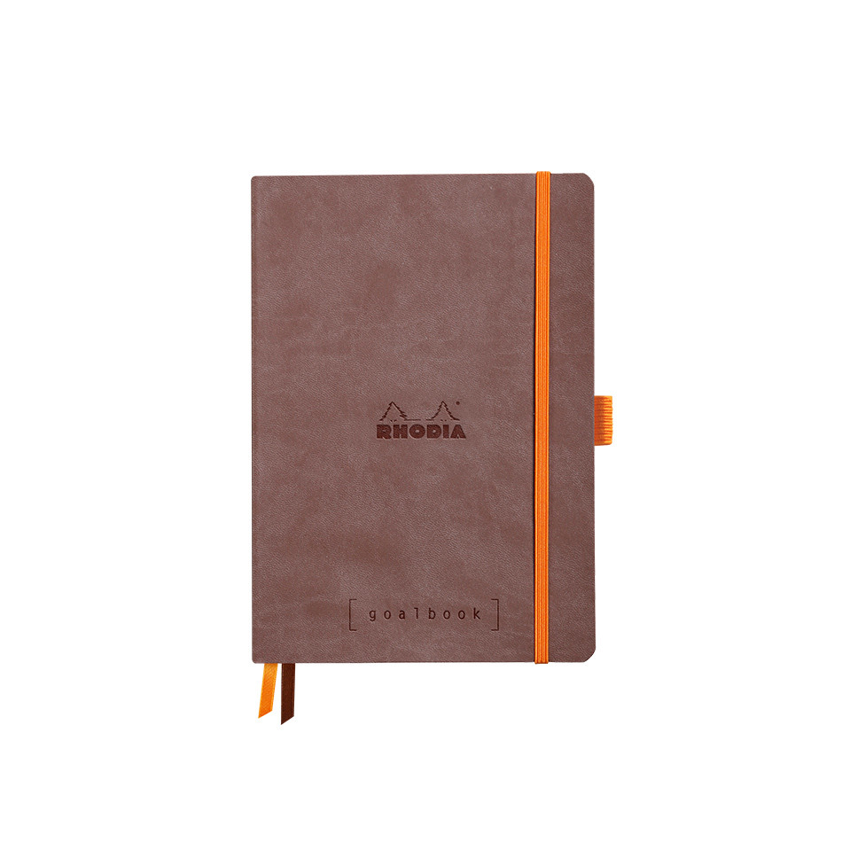 Rhodia Rhodiarama Softcover Goalbook With White Paper A5 Chocolate
