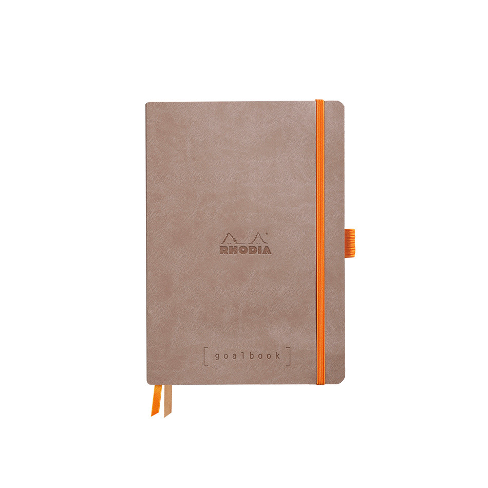 Rhodia Rhodiarama Softcover Goalbook With White Paper A5 Taupe