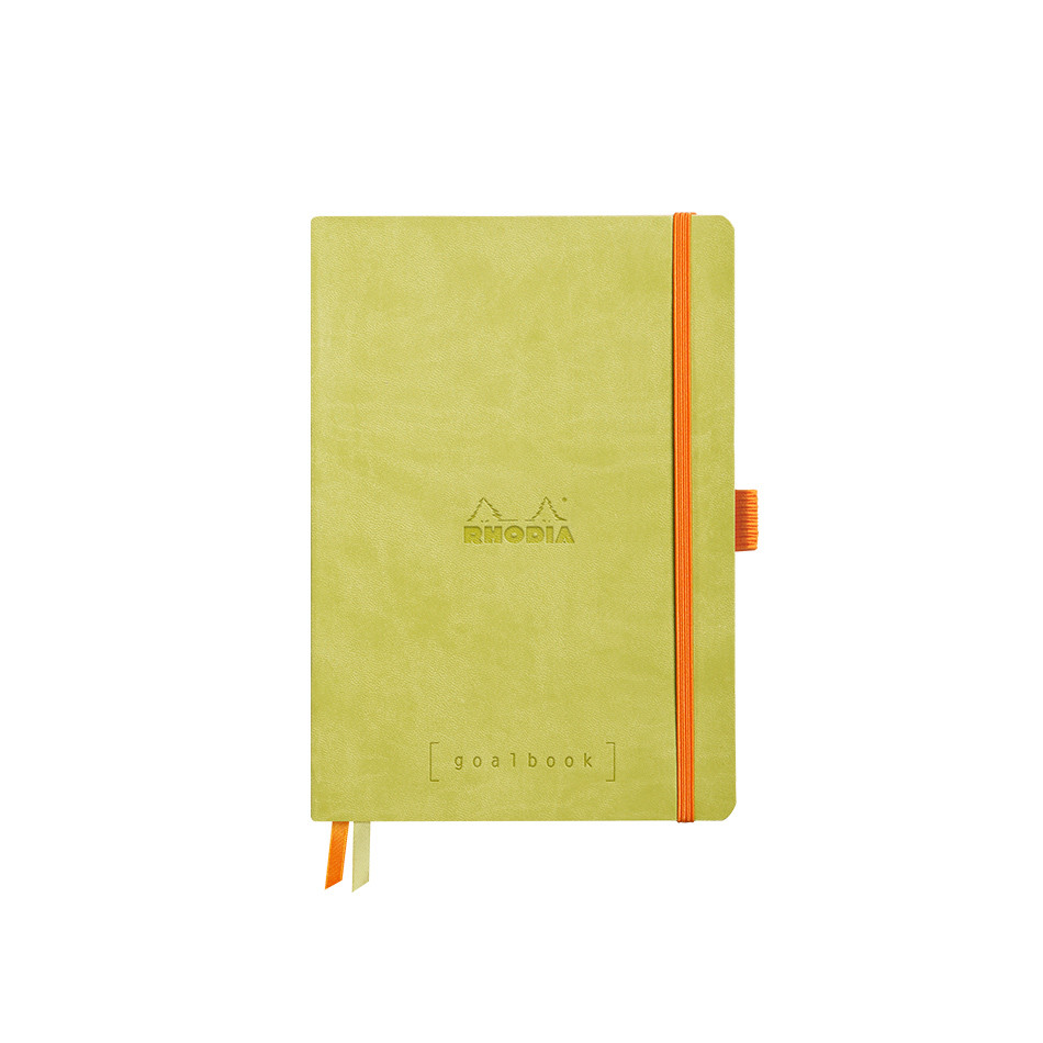 Rhodia Rhodiarama Softcover Goalbook With White Paper A5 Anise Green