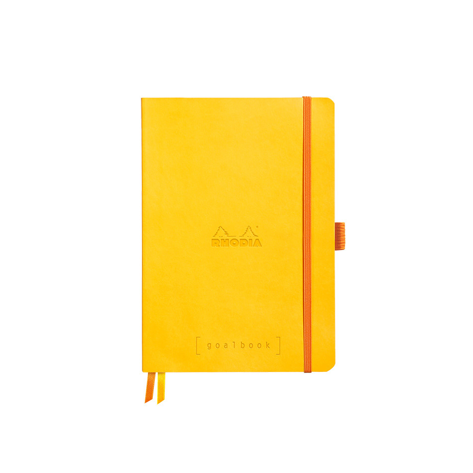 Rhodia Rhodiarama Softcover Goalbook With White Paper A5 Yellow