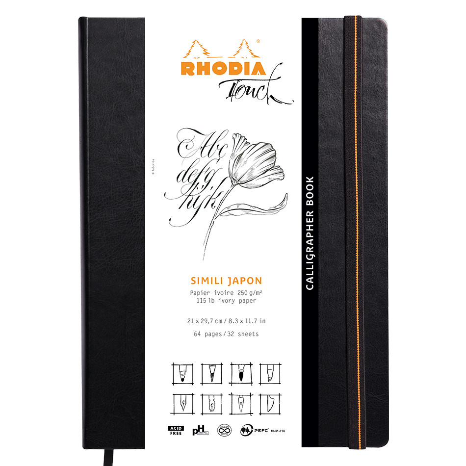 Rhodia Touch Calligrapher Book Hardcover A4