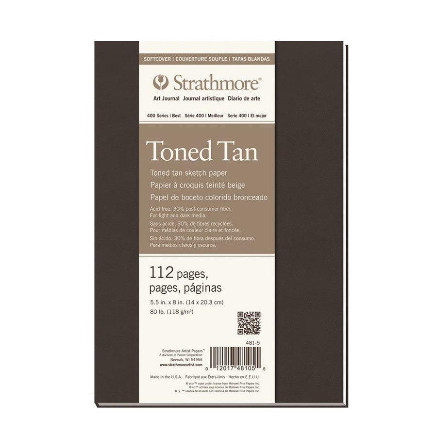 Strathmore 400 Toned Tan Sketch Art Journal Softcover 5.5x8