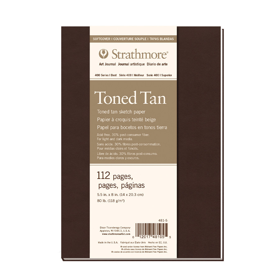 Strathmore 400 Toned Tan Mixed Media Art Journal Softcover 5.5x8